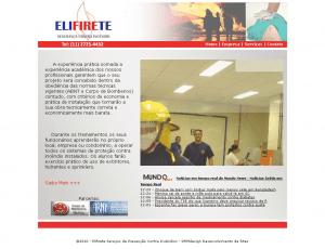 Website Simples desenvolvido para Elifirete Serviços, com resumo de serviços oferecidos, histórico do profissional e meio de contato via telefone e/ou email