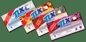 Rótulos Adesivos desenvolvidos e impressos para regulamentação e lançamento da linha de produtos de limpeza pesada da marca TLX