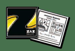 Desenvolvimento de cartão de visitas em formato especial para empresa de ambientação e decoração institucional Zaz Brasil