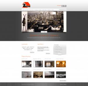 Website Gerenciável 2Decor, tradicional loja de cortinas e persianas localizada no Alto da Lapa em São Paulo, destaque para a apresentação dos produtos