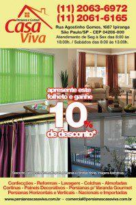 Desenvovimento de folheto para divulgação de serviços de instalação, montagem e revenda de cortinas e persianas no Ipiranga, São Paulo