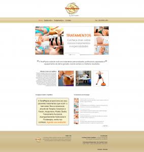 Desenvolvimento e configuração de website Mobile Friend para a clínica de pilates e fisioterapia TeraPhysio, localizada na zona Norte de São Paulo