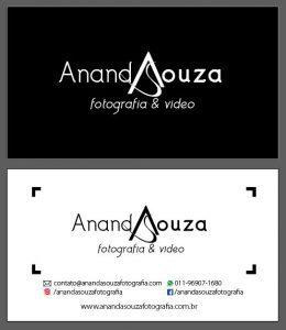 Cartão de Visitas Ananda Souza Fotografia