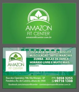 Cartão de Visitas Academia Amazon Fit Center