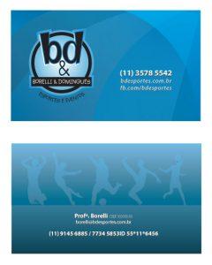 Cartão de Visitas Leandro Borelli - BD Esportes