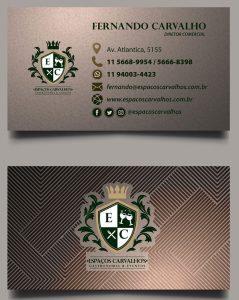 Desenvolvimento Cartão de Visitas Buffer Espaços Carvalho's