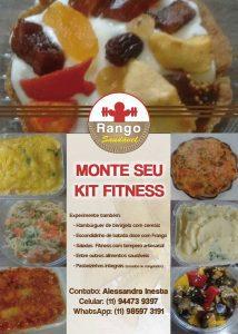 Folheto Divulgação Kit Fitness Rango Saudável