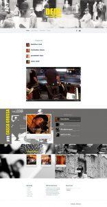 Website para Banda Dede Yus Casca Grossa, banda paulistana de estilo controverso e letras autorais, conta com agenda, letras e demais informações